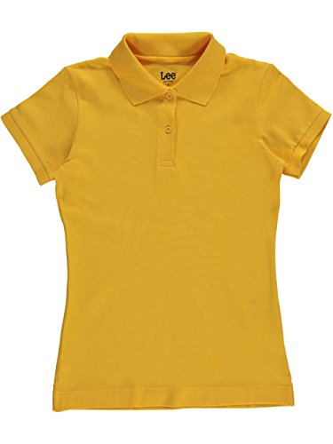 LEE Juniors Stretch Pique Polo, Gold, (Pique Stretch Cap)