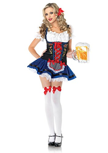 Leg Avenue Womens Flirty Fraulein Oktoberfest Outfit Fancy Dress Sexy Costume, S/M (Sexy Oktoberfest Outfit)
