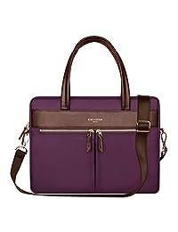 YiYiNoe Professional Macboook Handbag Shoulder Bag for Pro 15 Laptop Business Briefcase Messenger Bag for Women Purple