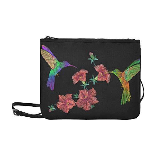 Over Crewel Embroidery - Tote Crossbody Bag Embroidery Crewel Hummingbird Bird Flying Over Pet High-grade Nylon Adjustable Shoulder Strap Shoulder Bag Handles For Shopping Travel Hiking Work