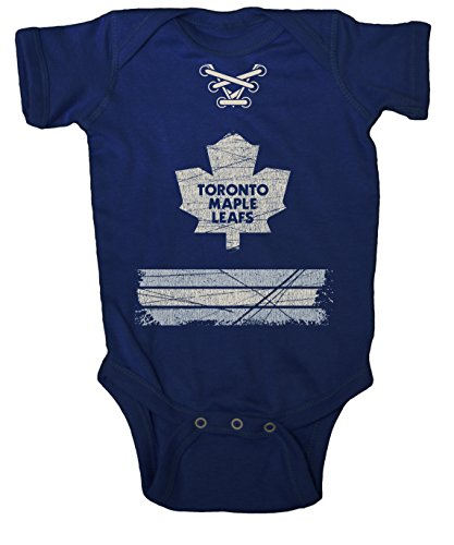 Old Time Hockey NHL Toronto Maple Leafs Beeler Vintage Infant Jersey Creeper, 24-Months, Navy (Hockey Time Old Jerseys)
