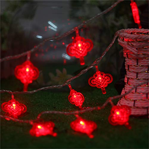BGFHDSD AC 220V LED Lighting String Chinese Knot Lights Garland Chandelier New Year Fairy Wedding Christmas Supplies Decor. Nudo UK Plug by BGFHDSD (Image #1)