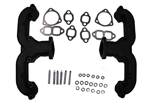 Black Coated Smoothie Rams Horn Exhaust Manifolds Headers for Small Block Chevy SBC Hot Rod