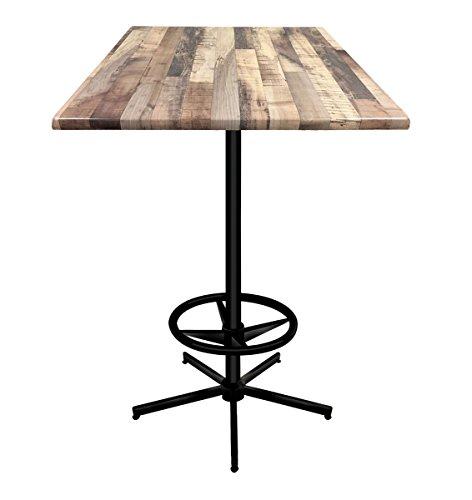 (Holland Bar Stool Co. OD21642B30SQRustic Enduro Top Indoor/Oudoor Table, Rustic)