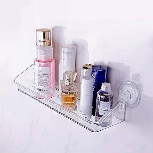 バスルーム棚区画プラスチックウォールは、サクションカップのストレージは、ベッドルームバスルームリビングルームキッチンラックマウント LCSHAN