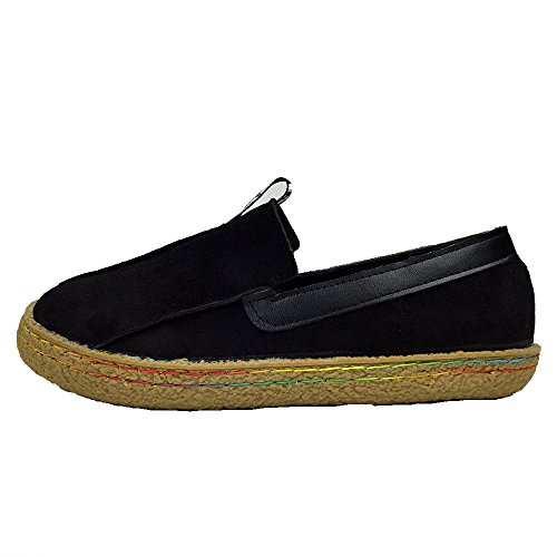 Loafers Leather Walking Brown Mary Boat Woman's Shoes Travel Driving Wide ALBBG Black Platform Girl's dt1qwEq7