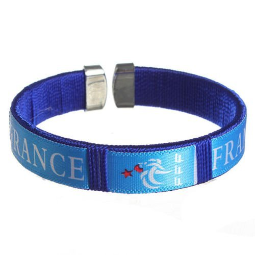 2014 World Cup National Soccer Football Team Bracelet Wristband (France) (World Soccer Bracelet)