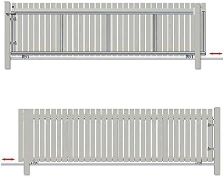 Bauer – Puerta corredera montar H=140, B=380, para hormigón), Plateado: Amazon.es: Bricolaje y herramientas