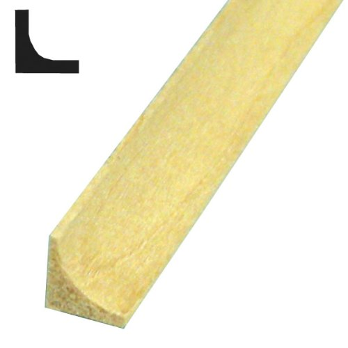 Midwest Products 3122 Basswood Miniature Moldings, 0.125 Inch ()