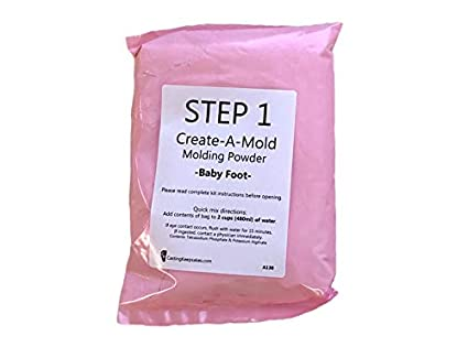 Luna Bean Infant Plaster Life Casting Kit Step 1 /& Step 2 Refill-