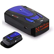 Radar detector, voice alarm and speed alarm system, 360 degree detection, automobile city/highway mode radar detector
