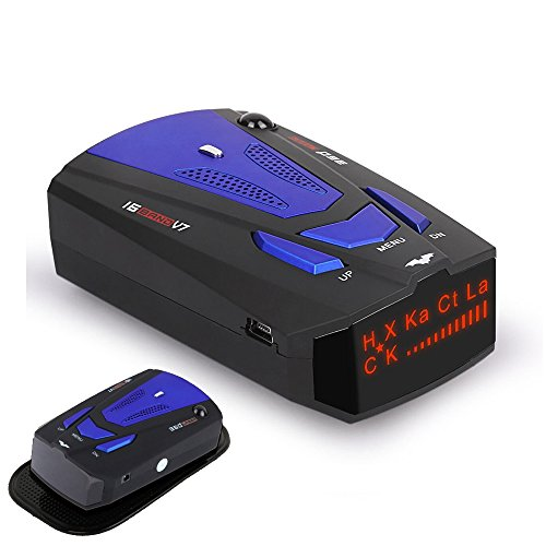 Radar Detector, Voice Alert and Car Speed Alarm System with 360 Degree Detection, City/Highway Mode Radar Detectors for Cars (FCC Certificated)
