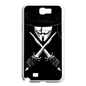 C-EUR Diy Phone Case V for Vendetta Pattern Hard Case For Samsung Galaxy Note 2 N7100 by Maris's Diary
