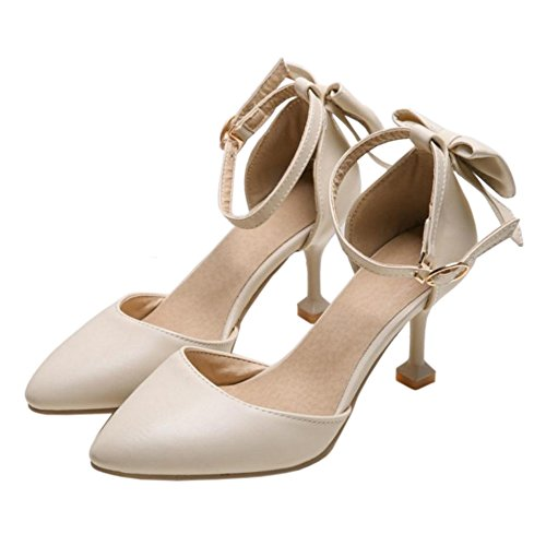 COOLCEPT Damen Mode Geschlossene Sommer Schuhe Beige