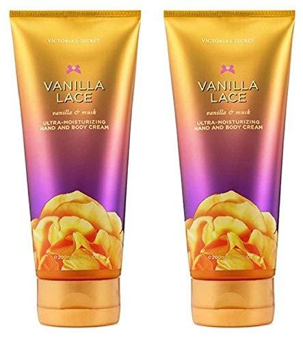 Victoria's Secret Vanilla Lace Moisturizing Hand and Body Cream 6.7 Oz Bundle of 2
