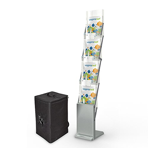 Tradeshow Magazine Rack - Collapsible Literature Holder for Events and Conferences by Vispronet