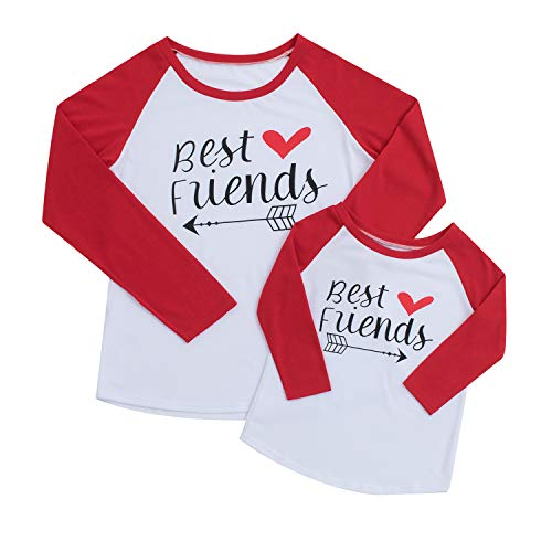 "Family Matching Mother & Daughter ""Best Friends""T-Shirt,Christmas Blouse Outfits"