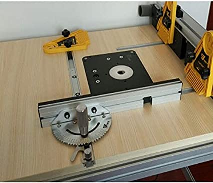 belupai Miter Gauge and Box Joint Jig with Adjustable Flip Stop Woodworking Tool for Bosch