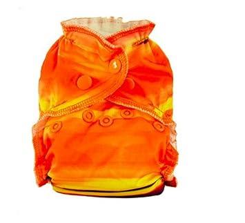 2 Easy Peasies Newborn / Preemie AIO Cloth Diaper Lot 4-15 lbs Set Nouveau Nee Couche Lavables Reusable Nappy (Sunset Dreams)