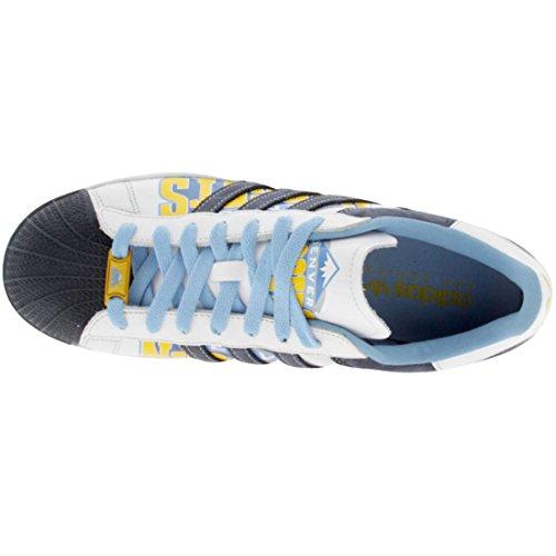 Adidas Superstar 1 Mens Sz 13 Blauwe Denver Nuggets Editie Sneakers Schoenen