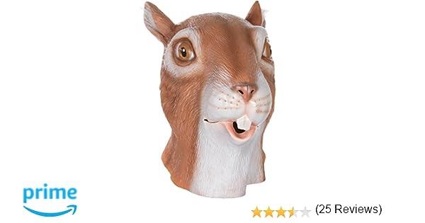 Queenshiny® máscara de látex animales (ardilla)