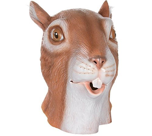 [Queenshiny Latex Animal Head Mask Halloween Cosplay Party Costume Fancy Dress (One size, Squirrel)] (Squirrel Halloween Costume)