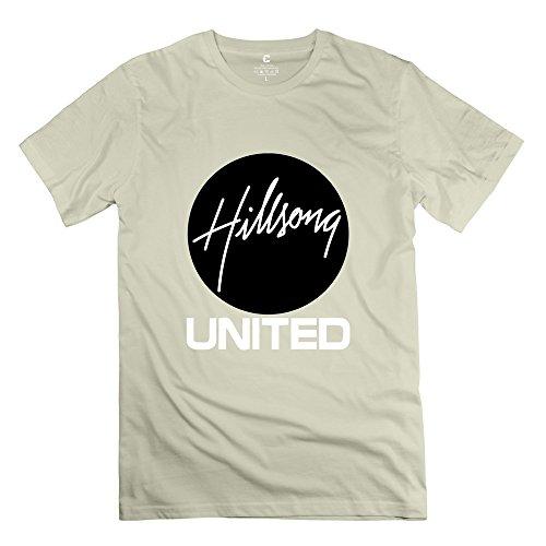 IHoo Men Hillsong United Logo T Shirts XXL Natural