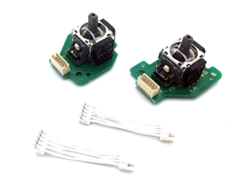 SBOS Analog Stick with PCB Board for Nintendo Wii U GamePad Controller Left Right Set with Cable