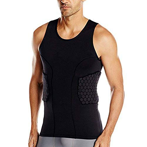 TUOY Men's Sleeveless Shirt Padded Compression