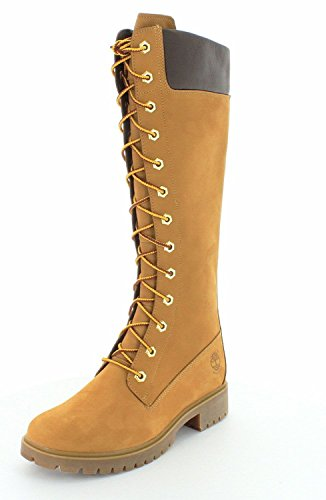 "Timberland Women's Premium 14"" Waterproof Tall Boot Wheat 8"