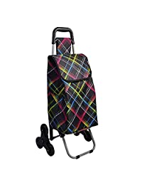 Fashion Trolley/Climbing Stairs Shopping Cart, Metal Frame, Waterproof Luggage Bag, Folding and Easy to Carry, for Daily Shopping, Travel, Camping