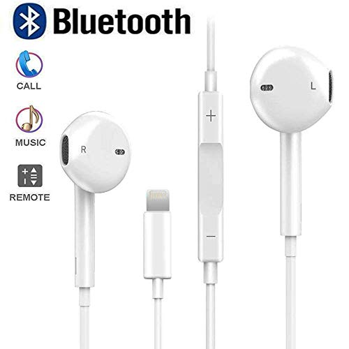 Bluetooth Headphones with Microphone and Volume Control, Noise Cancelling Earphones for Applee 7 8 X XS Max XR Earbuds