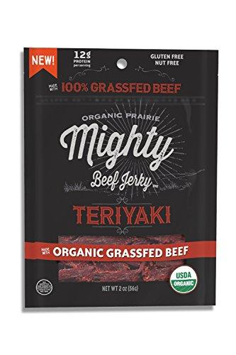 Mighty Organic, Mighty Jerky, 100% Grassfed Organic Beef ...