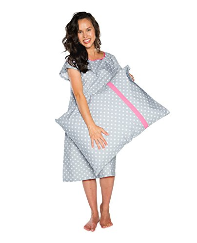 Gownies - Delivery Maternity Hospital Gown Labor Kit (Large/XLarge pre pregnancy 10-16, Lisa)