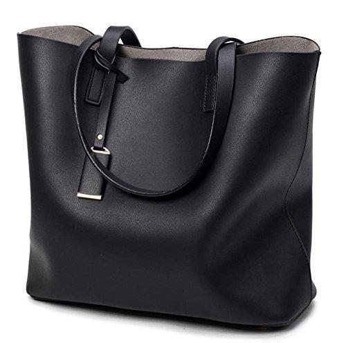 pengweiLas se?oras simples de la manera empaquetan el bolso del hombro del bolso , gray Black