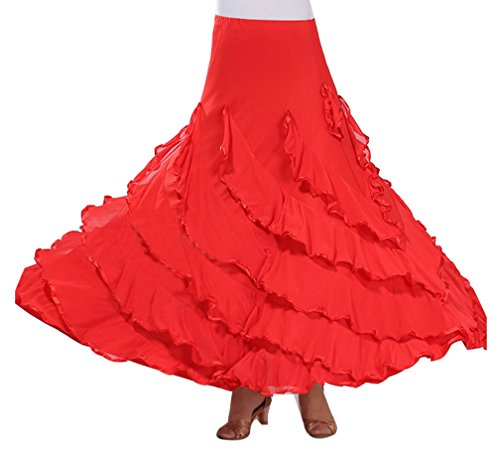 Traje de Baile Moderno Falda de Baile Flamenco de Mujer ...