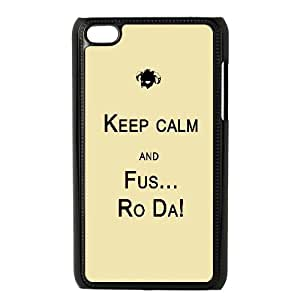 Keep Calm And Fus Ro Da Typography07 0 iPod Touch 4 Case Black DIY Ornaments xxy002-3635827