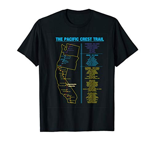 (Pacific Crest Trail thru hiking shirt gift for men and women)