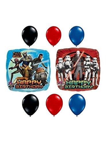 Star Wars Rebel Happy Birthday Mylar & Color Latex Balloon Bouquet