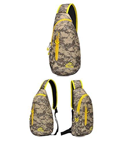 Wewod Bolso de Pecho Mujer ,Mochilas Bolsa de Hombro Mujer de Moda,Mochila de Hombro Deporte 23 x 39 x 11 cm (L*H*W) Colorido-A