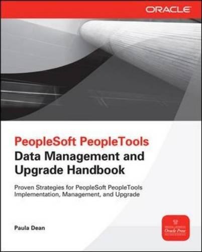 PeopleSoft PeopleTools Data Management And Upgrade Handbook (Oracle Press)