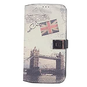 Tower Bridge Pattern Full Body Case with Card Slot for Samsung Galaxy S4 I9500