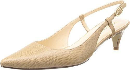 Cole Haan Women's Juliana Low Sling 45 Dress Pump,Sandstone Lizard Embossed,10 B US (Sandstone Footwear)