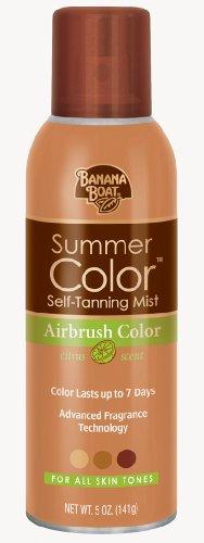 Banana Boat autobronceadora Spray - aerógrafo Color de verano para todos los tonos de piel, cítricos frescos - 5 onzas (paquete de 3)
