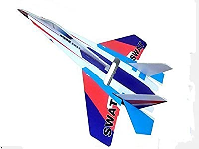 DESALEN 6 Channel DIY kt foam RC Airplanes Remote Control Fighter Jet 4CH rc Plane Aeromodelling Glider Model Airplanes Toy Avion Model Aircraft SU-27 (SWAT) by DESALEN