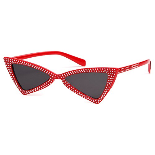 Small Cat Eye Sunglasses Clout Goggles with Triangle Lens UV403 - Designer Clout Goggles