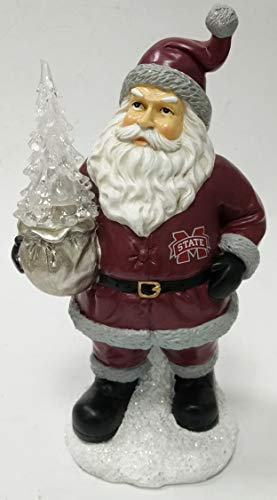 - Oxbay Mississippi State Bulldogs Santa with LED Christmas Tree