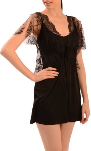 Harkham Women's Floral Lace Shrug Bolero Topper Black LG