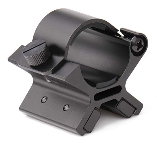NcDe Tactical Laser/Flashlight Barrel Clamp Mount, Torch Holder with Strong Dual Magnetic Stickers for 12 Gauge Shotguns and Magazine Tubes fits Remington 870 Mossberg 500 Maverick 88, Medium Profile