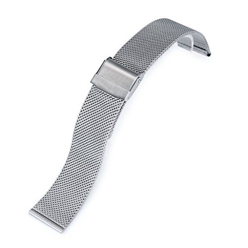 18mm Classic Vintage Knitted Superfine Wire Mesh Watch Band, Brushed by MiLTAT (Image #4)
